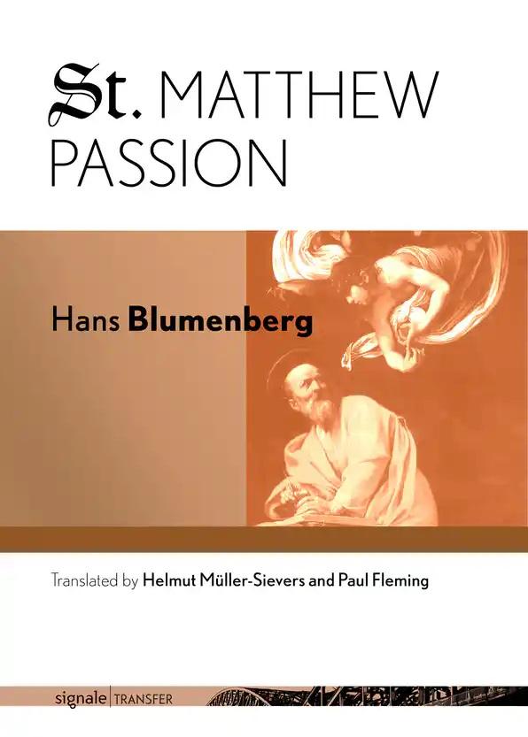 St. Matthew Passion Book Cover